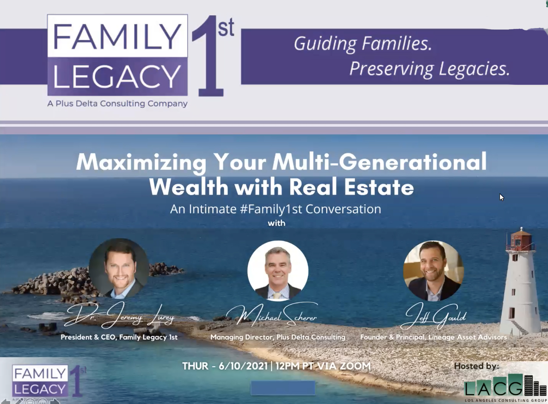 Maximizing Your Multi-Generational Wealth with Real Estate Online Seminar [Family Legacy 1st]